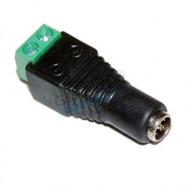 Connettore alimentazione femmina per sistemi di videosorveglianza su cavo Twistato o UTP