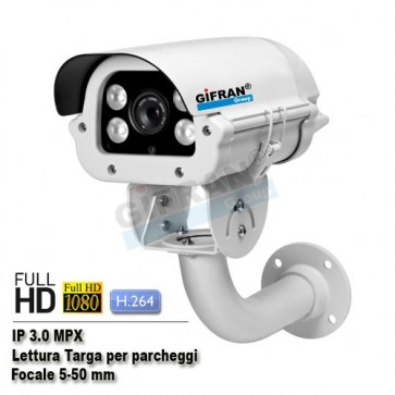 telecamera ip lettura targa 3.0 MPX