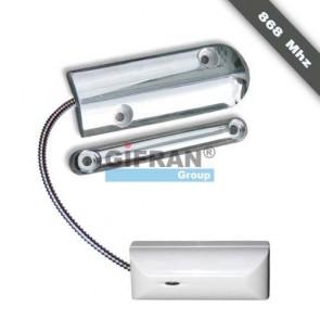 Contatto magnetico tapparelle, porte basculanti e saracinesche senza fili per antifurto casa wireless, frequenza di lavoro 868 Mhz.