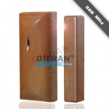 Contatto magnetico porte e finestre senza fili per antifurto wireless, frequenza di lavoro 868 Mhz, colore marrone