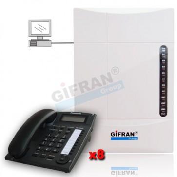 kit centralino telefonico analogico 8 interni e 8 telefoni panasonic prezzo offerta