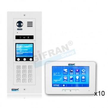 Videocitofono condominiale collegamento 2 fili