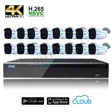 videosorveglianza con 16 telecamere motorizzate