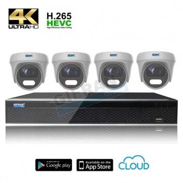 videosorveglianza 4 telecamere disco incluso 4K