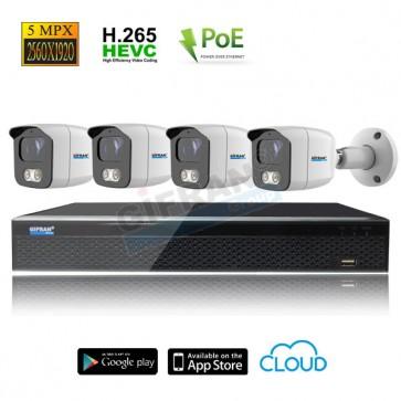 kit videosorveglianza POE 5MPX grandangolo