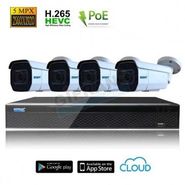 kit videosorveglianza poe professionale 5MPX
