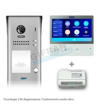 Kit videocitofono monofamiliare professionale WIF