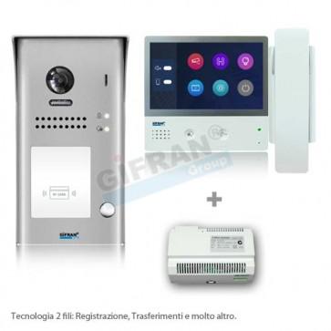 Kit videocitofono 2 fili con cornetta monofamiliare in offerta