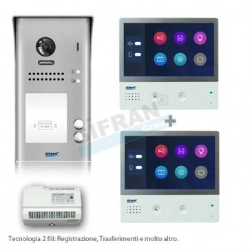Videocitofono bifamiliare - kit per due appartamenti