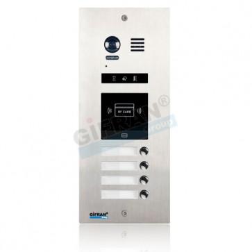 pulsantiera videocitofono 4 appartamenti con lettore prossimità per apertura porte videocitofono 2 fili