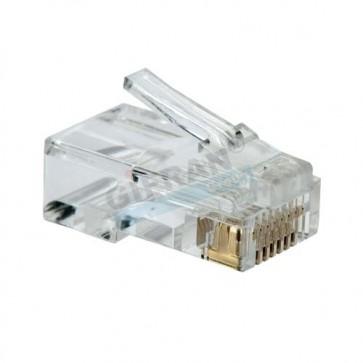 Connettore RJ45 per cavo UTP di videosorveglianza a crimpare per collegamento telecamere e NVR