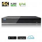 NVR Videosorveglianza POE 16 canali 8MPX (4K) / 5MPX H.265 installabile a rack