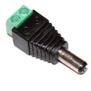 Connettore alimentazione sistemi di videosorveglianza per cavo Twistato o UTP