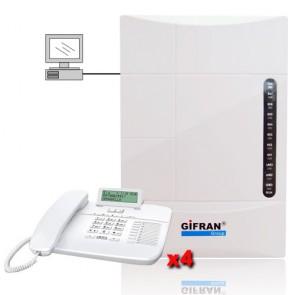 Offerta prezzo Kit centralino telefonico 8 interni e 3 linee esterne programmazione da PC e messaggi Mp3