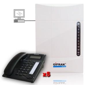 kit centralino telefonico professionale 8 interni