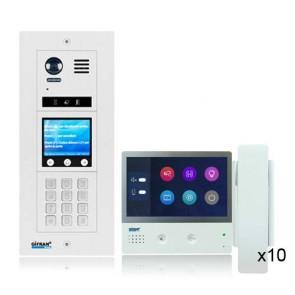 kit videocitofono condominile professionale 2 fili