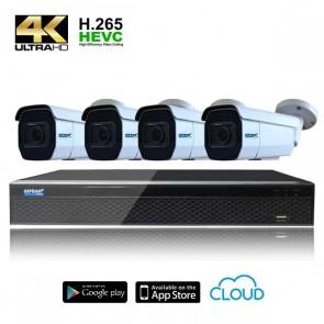 Kit videosorveglianza con telecamere motor zoom