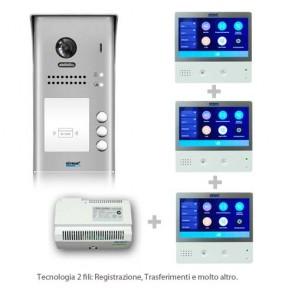 Kit videocitofono 3 appartamenti connessione internet professionale