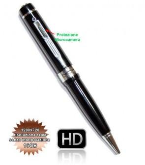 Spy Pen 16GB Penna Spia o SpyPen con microcamera HD, Scatta Foto di 4032x3024 Pixel e Registra Video in 720P reali senza interpolazione 1280*720, e Audio senza essere Notati gazie alla Microtelecamera nascosta. Microcamere professionali per investigazioni