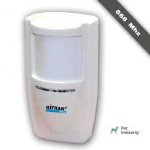 Antifurto casa senza fili, Infrarosso Pir 868 Mhz bidirezionale doppia tecnologia Pet Immunity per kit di allarme wireless Gifran, Rilevatore passivo e microonde
