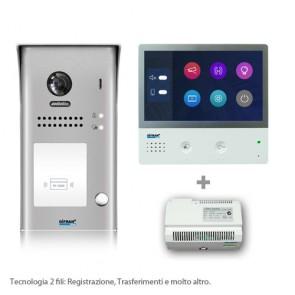 Kit videocitofono monofamiliare 2 fili